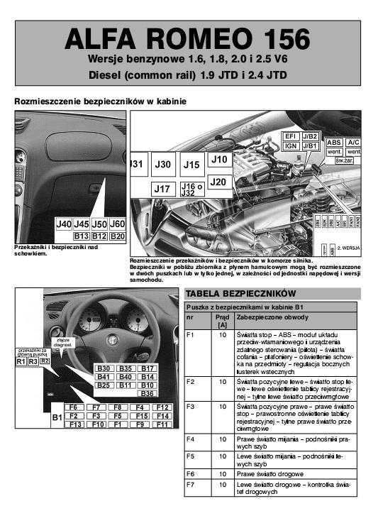 Schema Elettrico Alfa 147 1 9 Jtd : Schemat elektryczny alfa autoelekto nr i