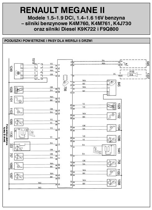 Nowoczesna architektura Schemat elektryczny Renault Megane II (AutoElektro nr 127 i 128) HG35