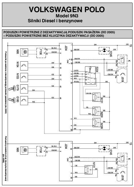 schemat elektryczny vw polo autoelektro nr 128 129 i 130